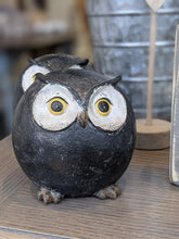 Load image into Gallery viewer, Round Ball Owl BLK