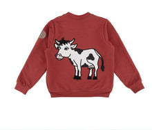 Load image into Gallery viewer, COW BOMBER JACKET RED