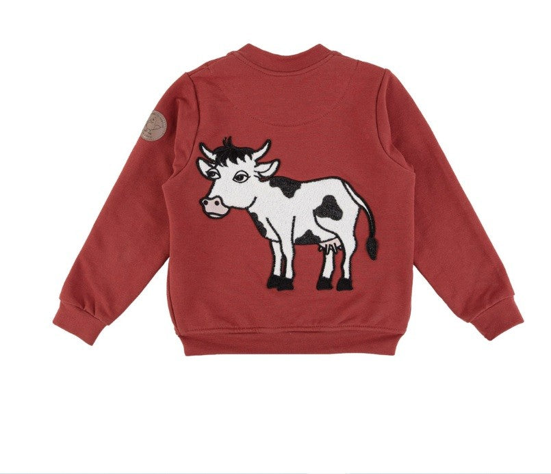 COW BOMBER JACKET RED