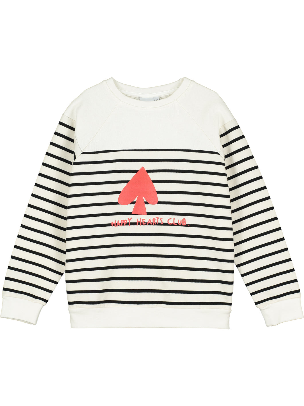 Happy Hearts Club Breton Stripe Sweater