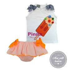 Orange Bloomer with ice cream shirt - 20VM055