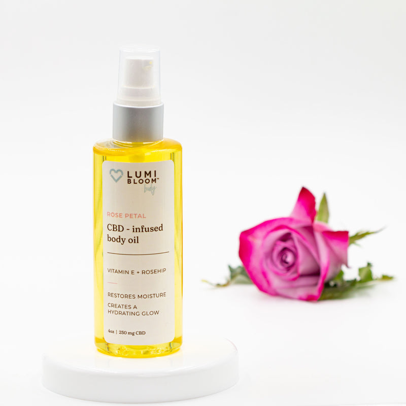 CBD ROSE PETAL BODY OIL