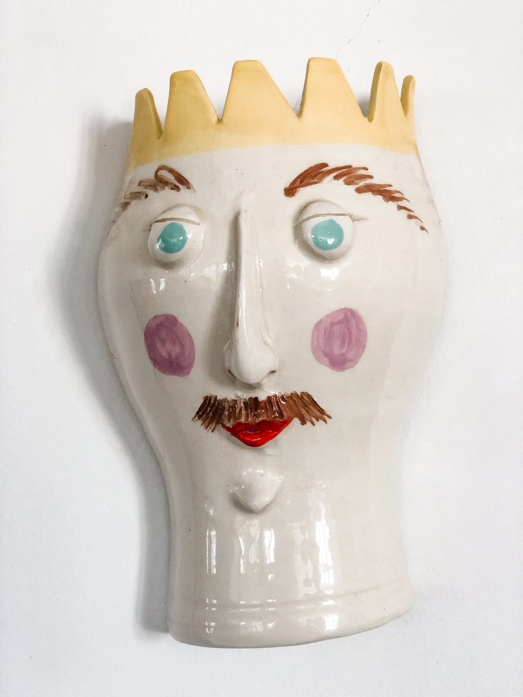 Pottery: Face mask in crown King