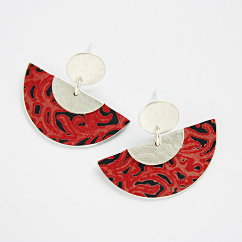 Alyssa Stud & Drop Fan Earrings