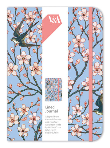 Almond Blossom & Swallow Lined Journal