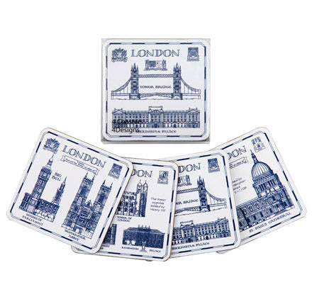 London Heritage Set of 4 Coasters