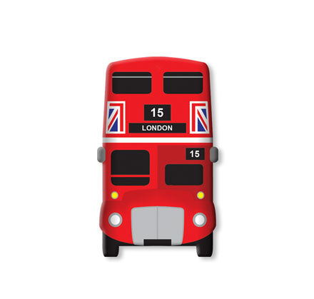 London Bus Soft Magnet Front View