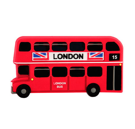 London Bus Soft Magnet Side View