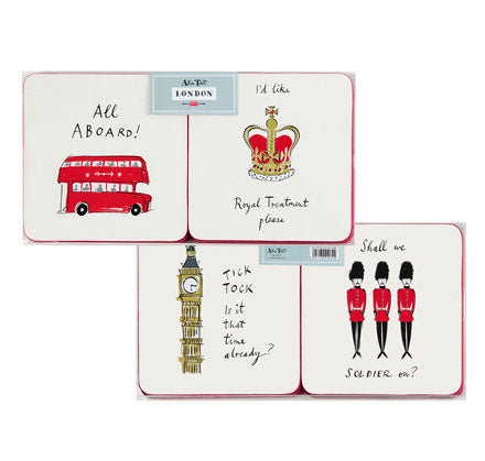 Alice Tait London Landscape Set of 4 Coasters