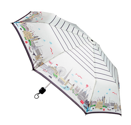 Alice Tait London Landscape Compact Umbrella