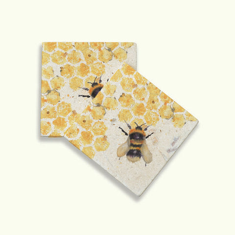 Honeycomb Bee Coasters