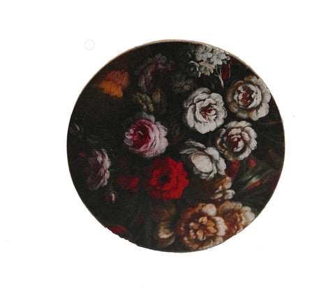 Floral Blooms Round Compact Pocket Mirror
