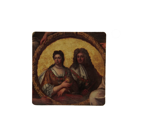 Anne & George Square Coaster
