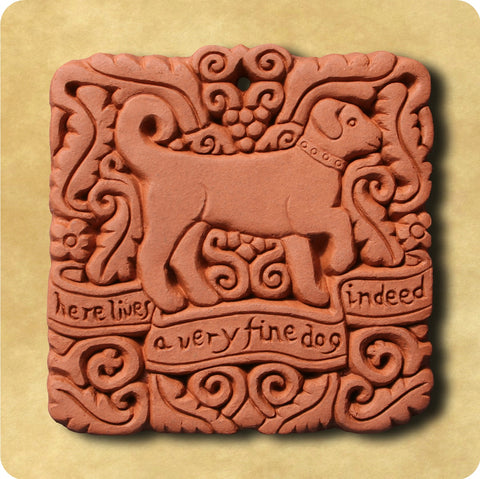 Fine Dog Terracotta Tile