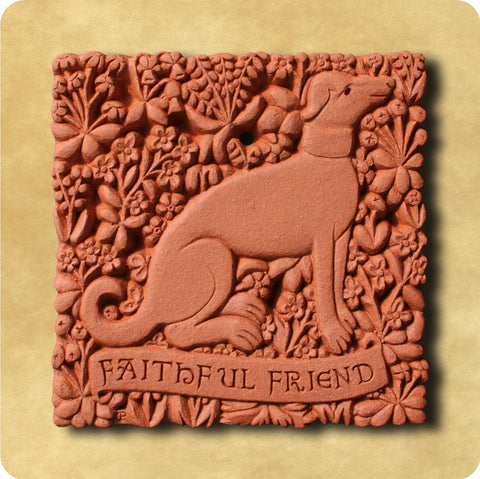 Hunting Dog Terracotta Tile