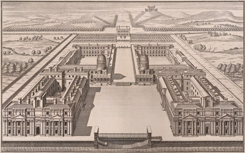 Prospect of the Royal Hospital Print