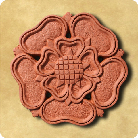 Tudor Rose Terracotta Tile