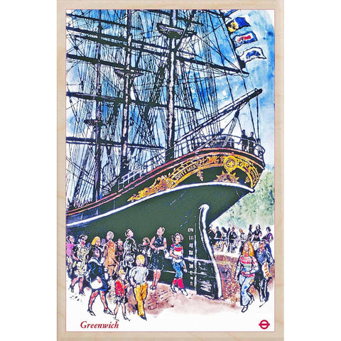 Cutty Sark Wooden Postcard