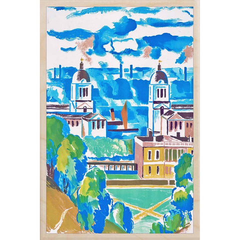 Greenwich View Wooden Postcard