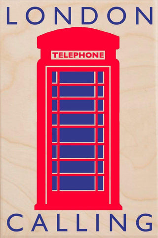 London Calling Wooden Postcard