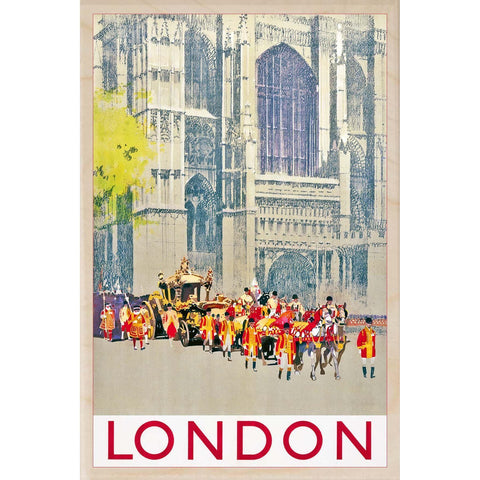 London Pageant Wooden Postcard
