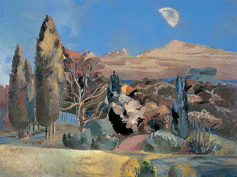 Landscape of the Moon's First Quarter 1943