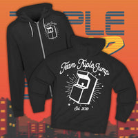 Team TripleJump zip-up hoodie