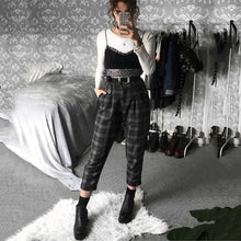 Load image into Gallery viewer, High Waist Plaid Pants - Bend It Like BaiYu