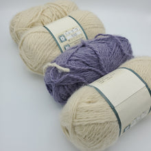 Load image into Gallery viewer, Cream and Lavender Yarn Pack