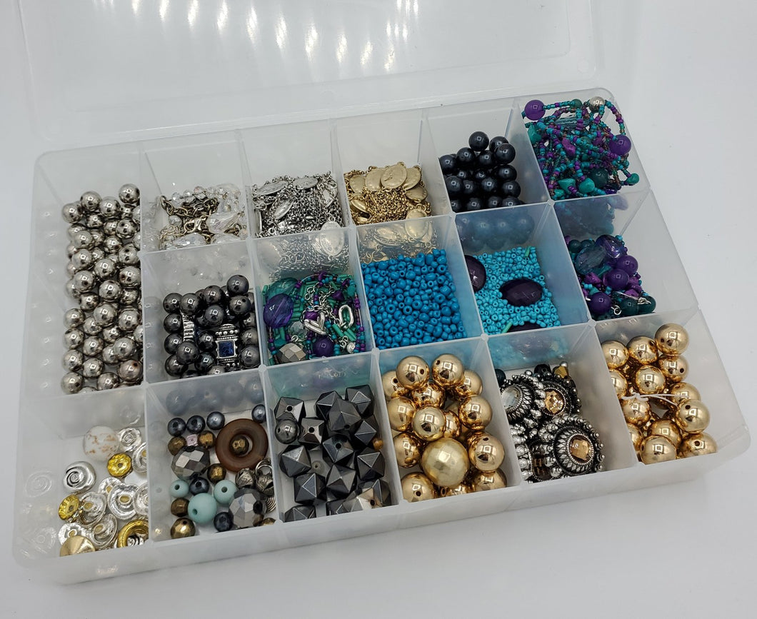 Jewelry Maker Silver and Gold Bead Bundle