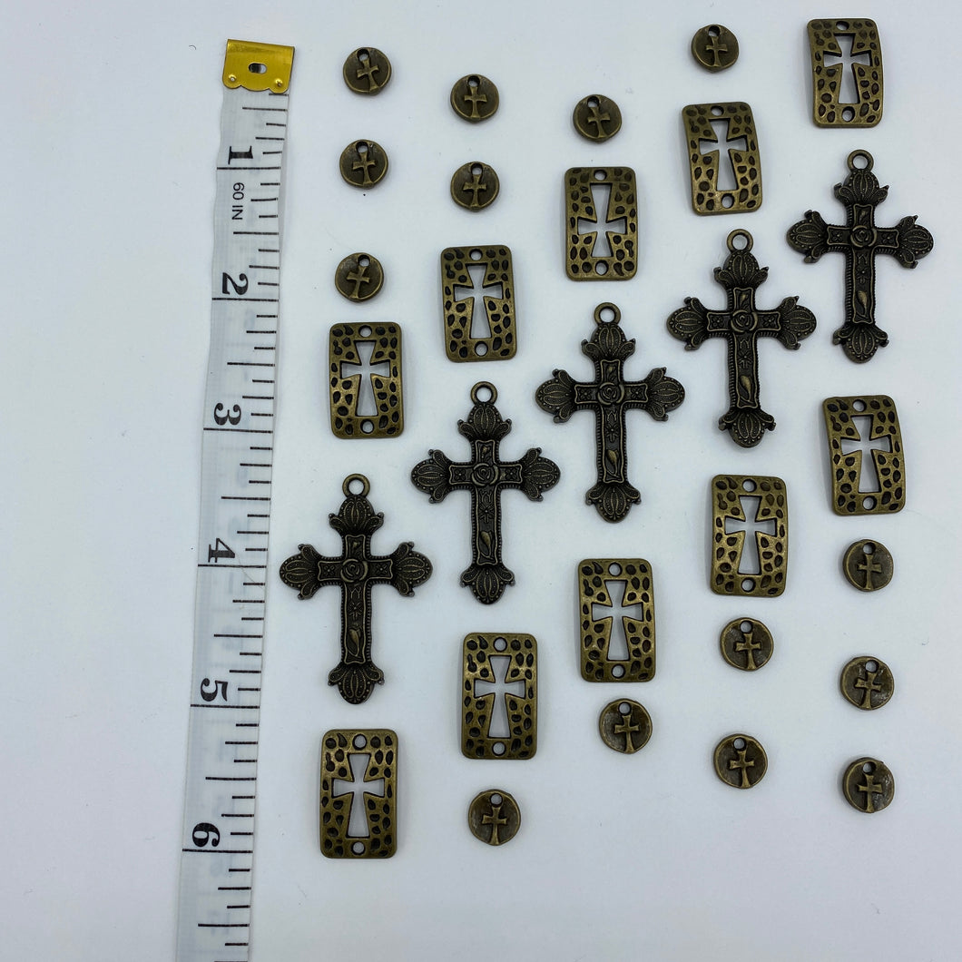 Bronze Cross Charm Collection