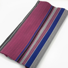 Load image into Gallery viewer, Maroon, Blue, Black Stripe Fabric