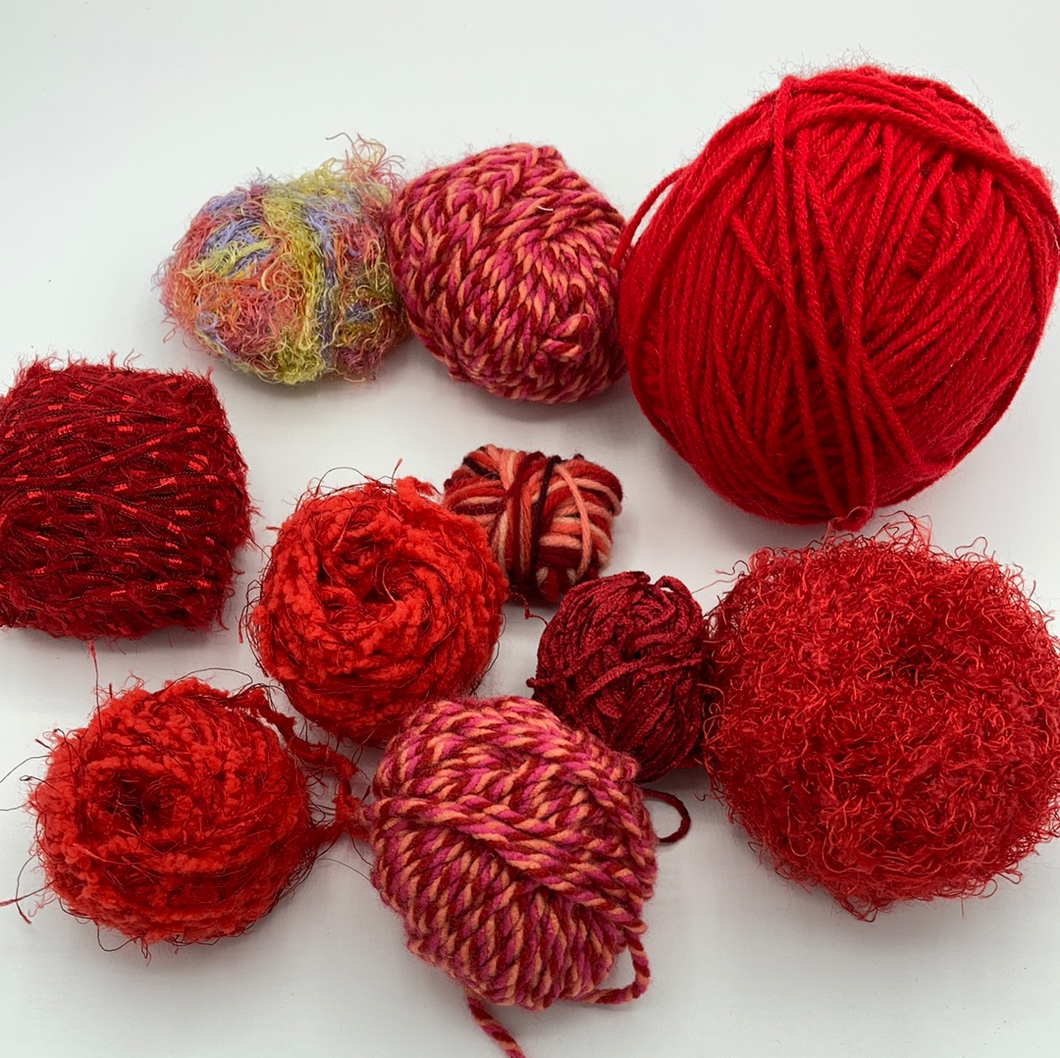 Be Mine Reds Yarn Lot