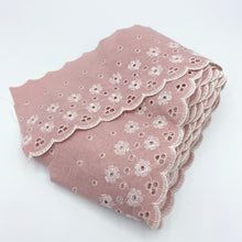 Load image into Gallery viewer, Pink Eyelet Trim