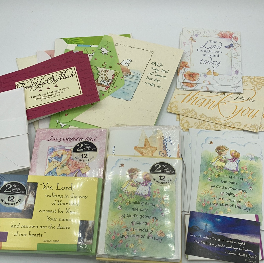 Huge Bundle Religious Themed Notecards