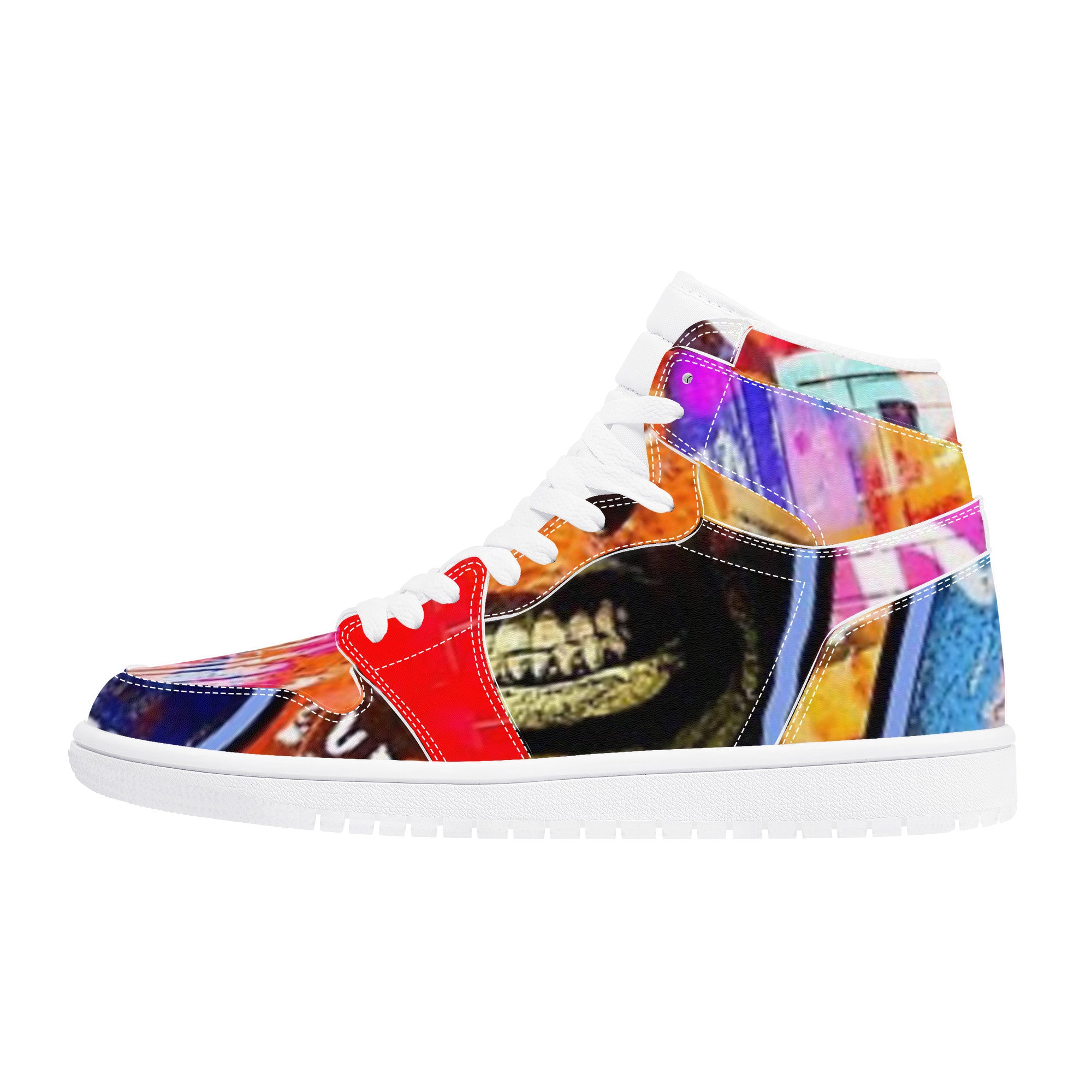 D17 High Top Synthetic Leather Sneaker Street Flow