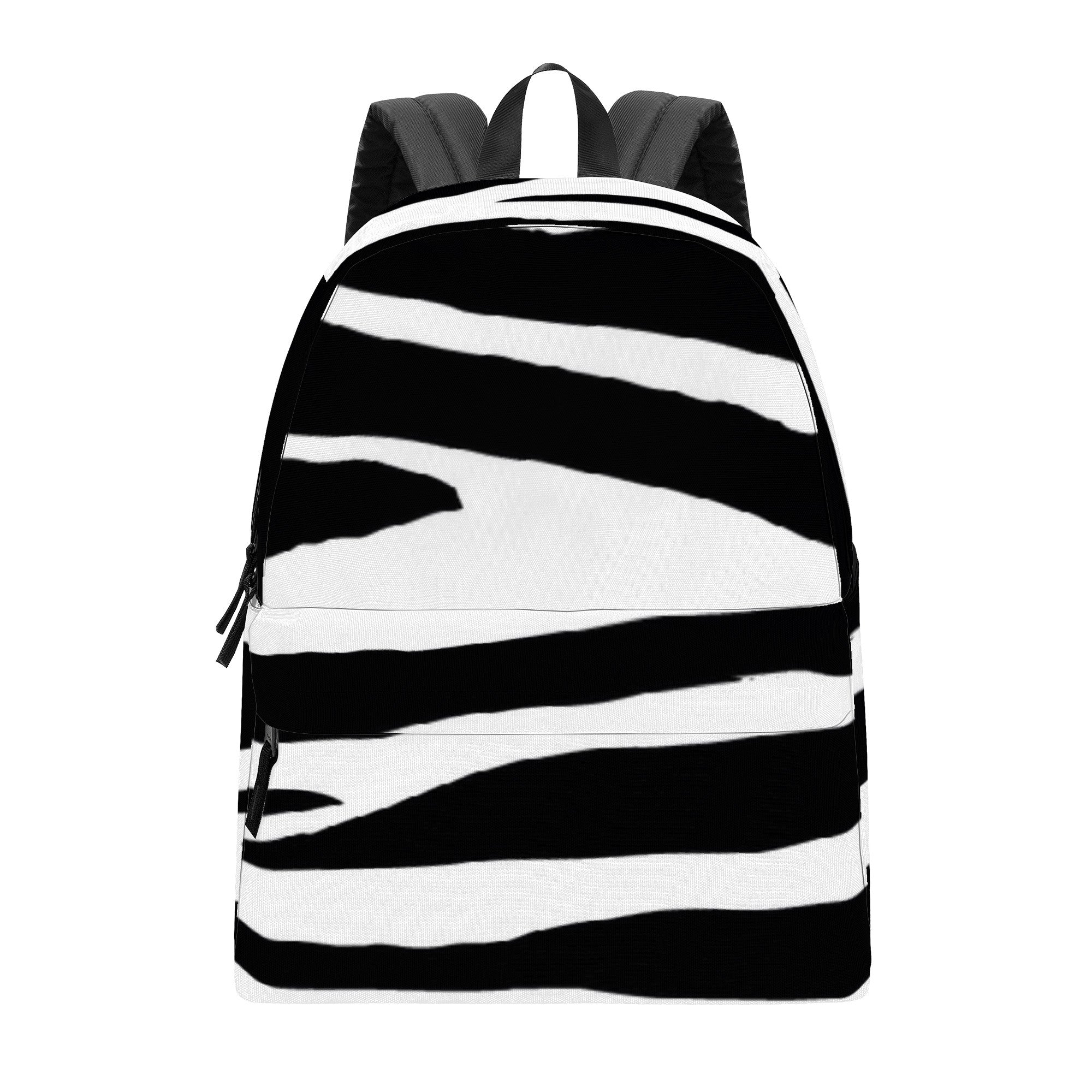 D39 All Over Print Cotton Backpack Black and White HAPPIER FEELINGS