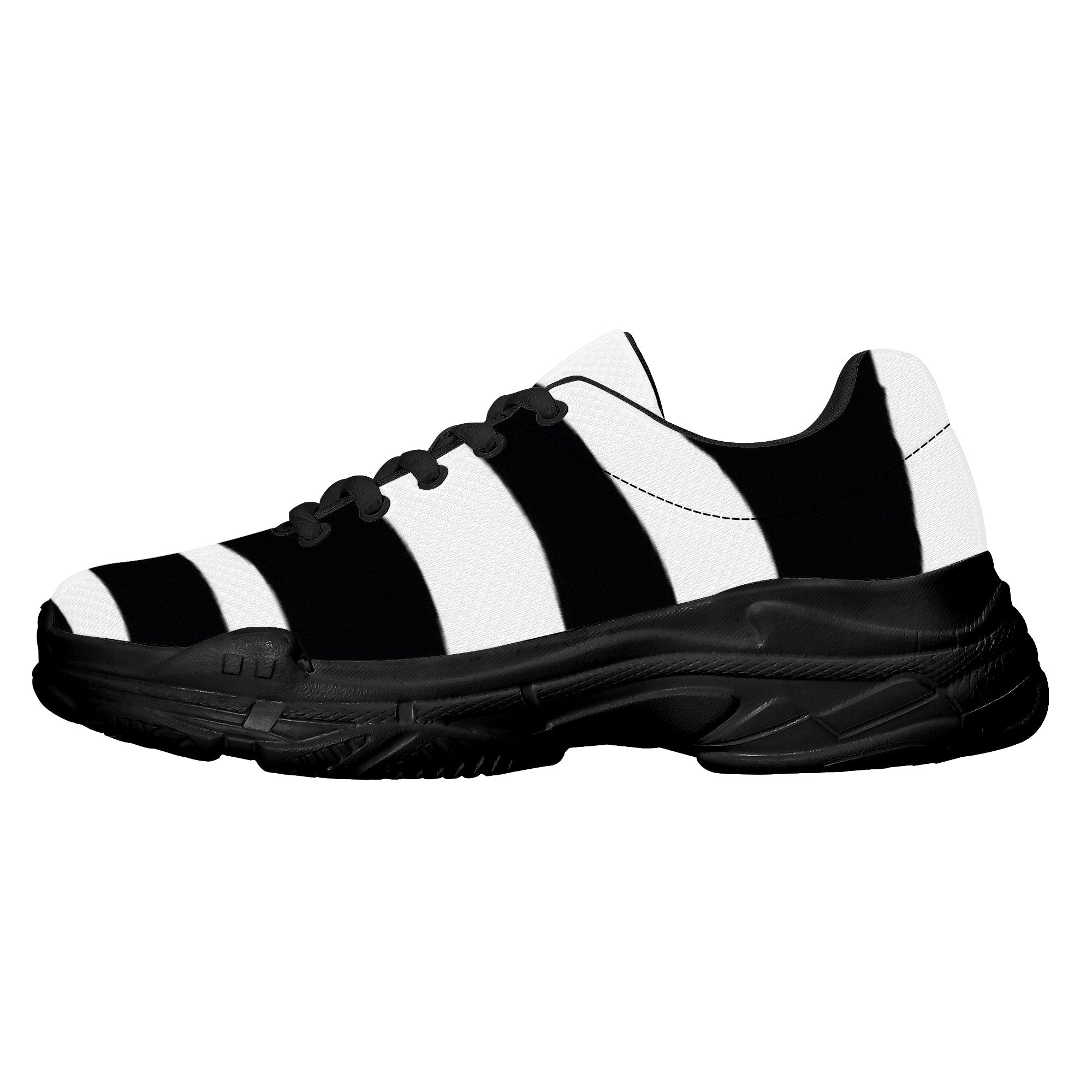 D22 Chunky Sneakers – Black and White HAPPIER FEELINGS