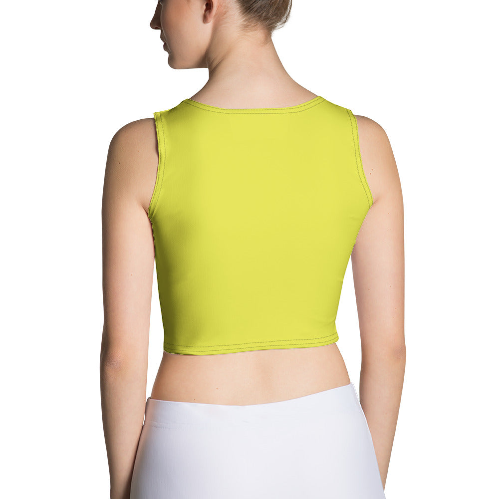 Crop Top Love Hopes Yellow White