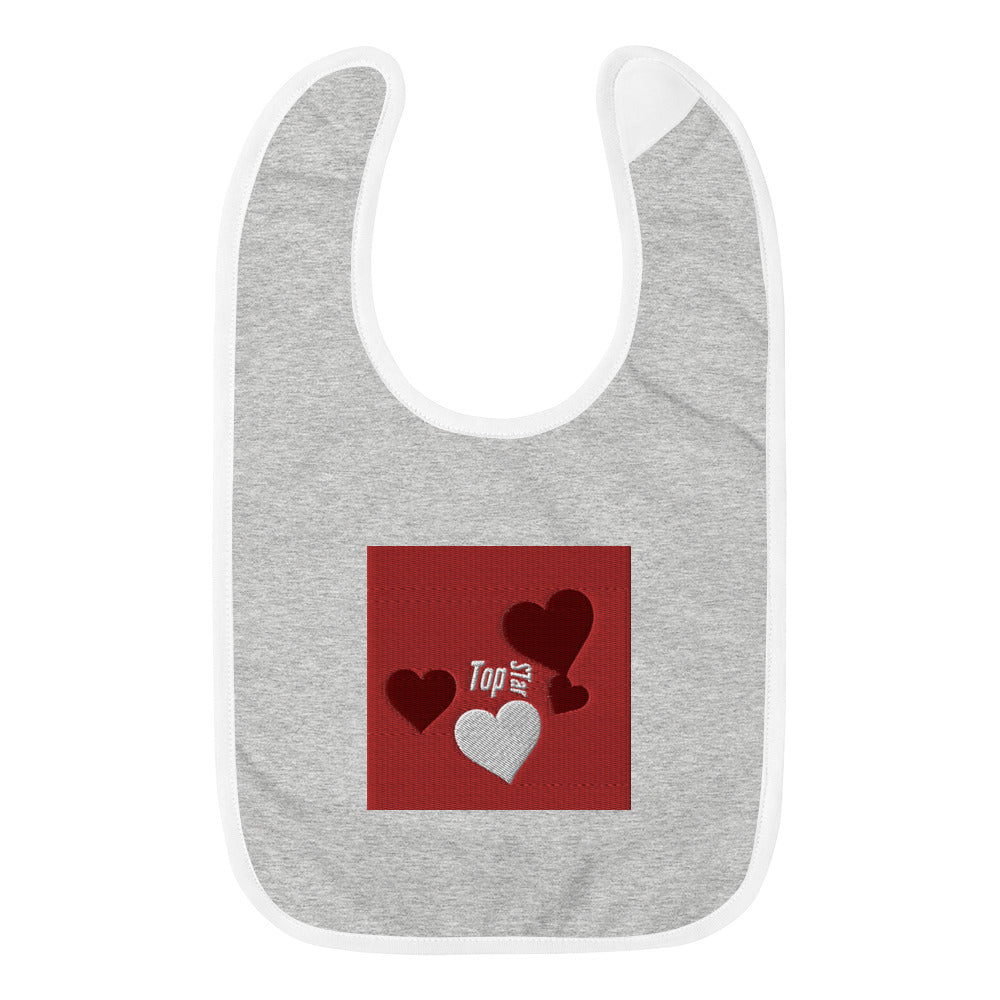 Embroidered Baby Bib Top Star 4 love
