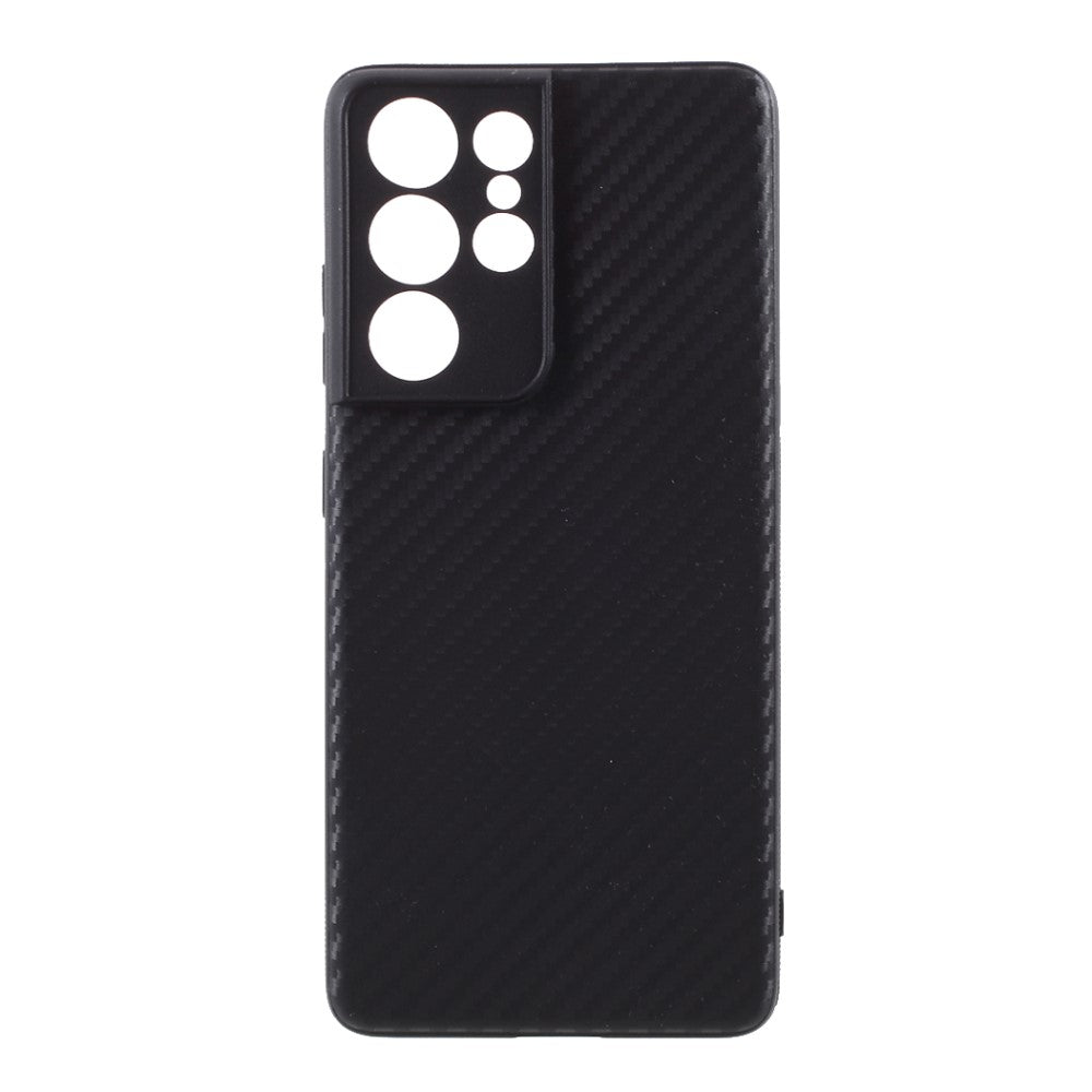 Husa Samsung Galaxy S21 Ultra model Carbon Fiber cu Protectie Camera, Silicon, TPU, Viceversa
