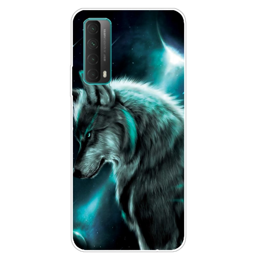 Husa silicon Huawei P Smart 2021 model Mythic Wolf, Silicon, TPU Viceversa