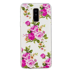 Carcasa Husa Samsung Galaxy A6 2018 Model Roses, Fosforescent,  Antisoc + Folie sticla securizata Samsung Galaxy A6 2018 Tempered Glass  Viceversa