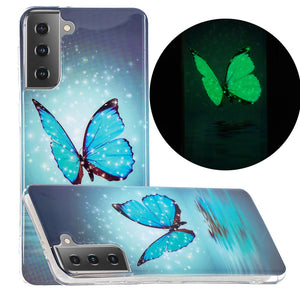 Husa silicon Samsung Galaxy S21 Fosforescent model Butterflies, Silicon, TPU Viceversa Multicolor