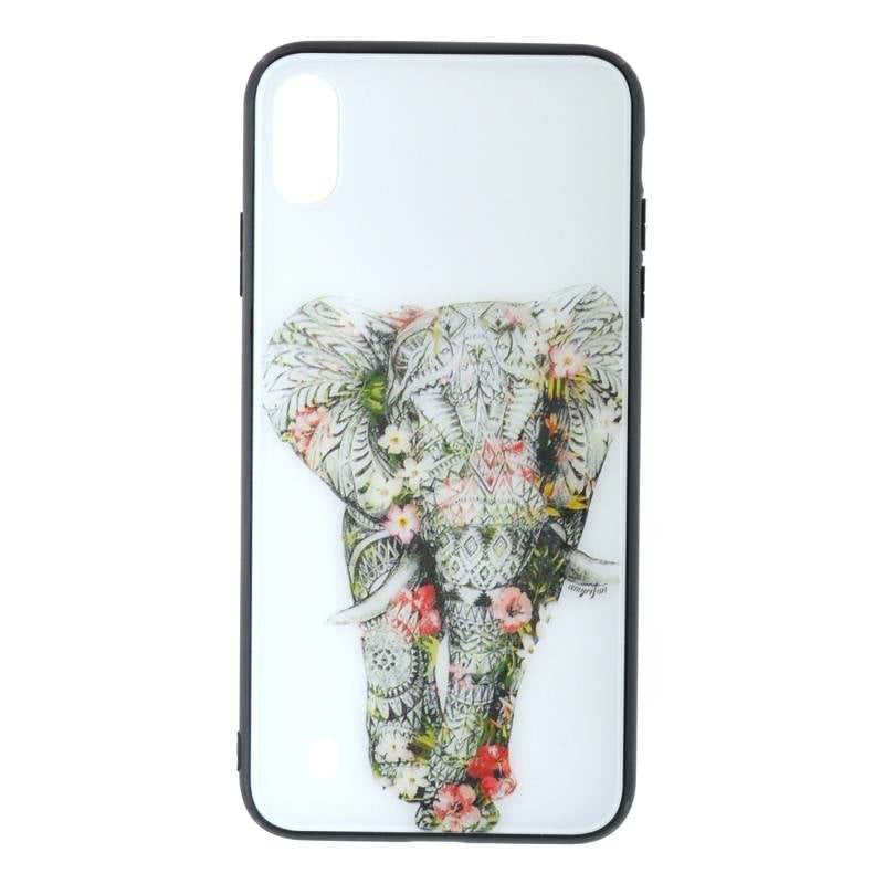Carcasa Husa Samsung Galaxy A10 Glass Model Elephant + Folie sticla securizata Samsung Galaxy A10 Tempered Glass - Viceversa