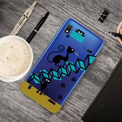 Carcasa Husa Samsung Galaxy A10 model Joyful Cats, Antisoc + Folie sticla securizata Samsung Galaxy A10 Tempered Glass  Viceversa