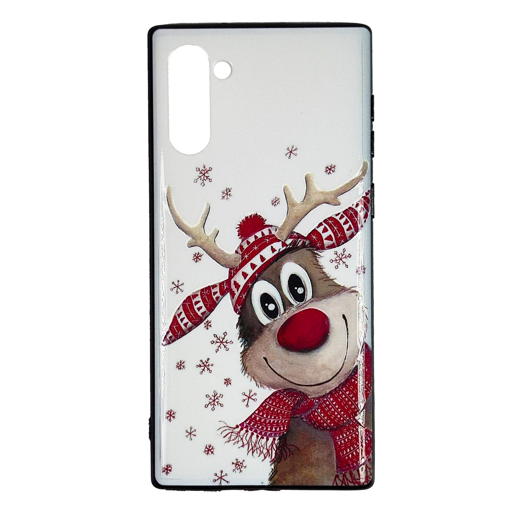 Husa Craciun Samsung Galaxy Note 10 / Note 10 5G Model Rudolf, TPU, Viceversa Multicolor