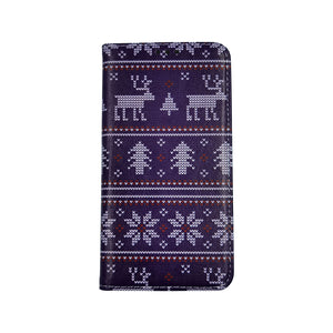 Husa Craciun Flip Carte Apple iPhone 11 Pro Max model model Christmas Knit, Portofel cu Stand, Antisoc, Viceversa
