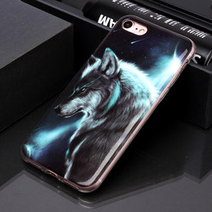 Husa Apple iPhone SE 2 model Mystic Wolf, Silicon, Antisoc, Viceversa Multicolor