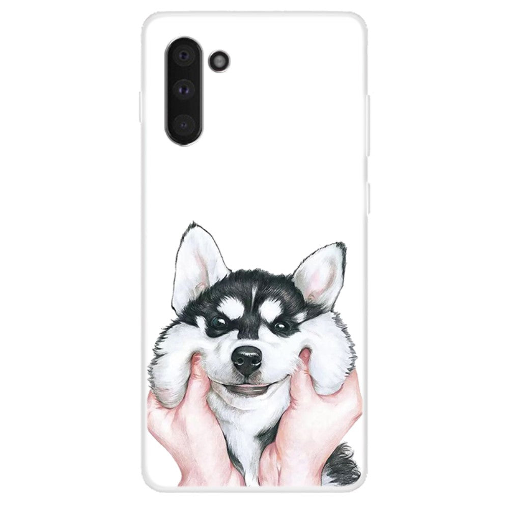 Husa Samsung Galaxy Note 10 model Cute Husky, Silicon, TPU, Viceversa Multicolor